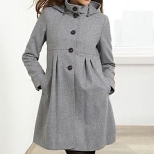 DKNY gray wool coat
